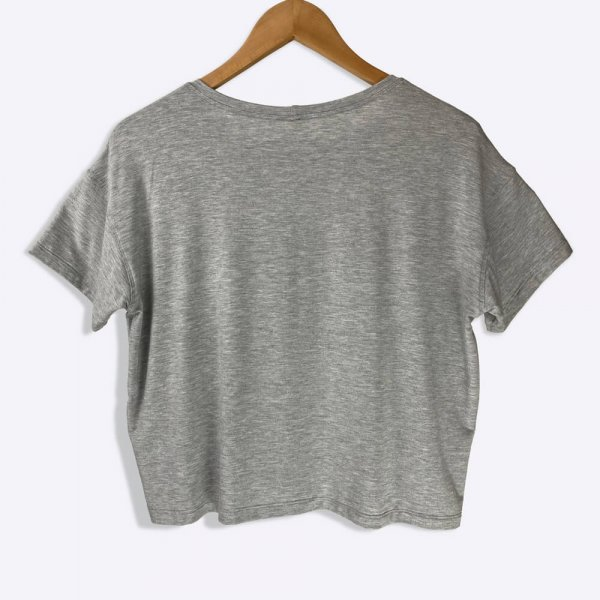 The Sedona Crop Top in Gray Back View